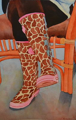 Bamboo Chair Painting - Gerry Afe by Cynthia Sexton
