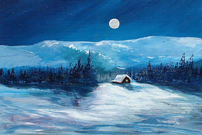 Painting - Get Away Cabin by George Richardson