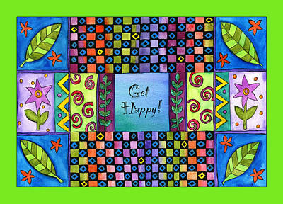 Get Happy Art Print by Pamela  Corwin
