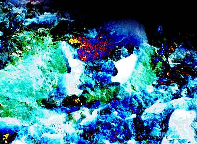 Faniart Africa America Mixed Media - Get It Ocean Deep by Fania Simon