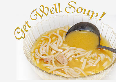 Get Well Soup Art Print by Andee Design