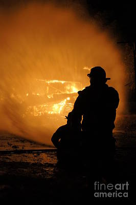 Fireman Photograph - Getting The Job Done by Benanne Stiens