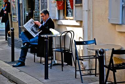 Photograph - Getting The Morning News by Eric Tressler