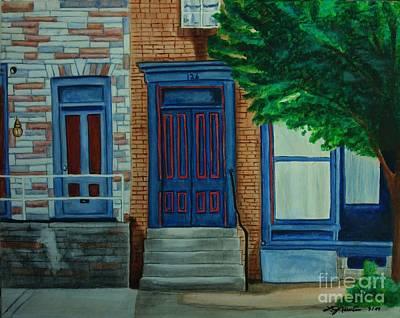 Painting - Gettysberg Brownstones by LJ Newlin