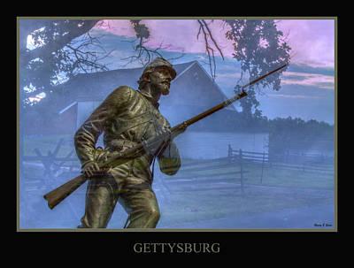 Gettysburg Battlefield Poster Art Print by Randy Steele