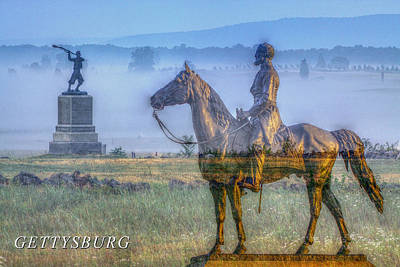 Army Of The Potomac Photograph - Gettysburg Battlefield by Randy Steele