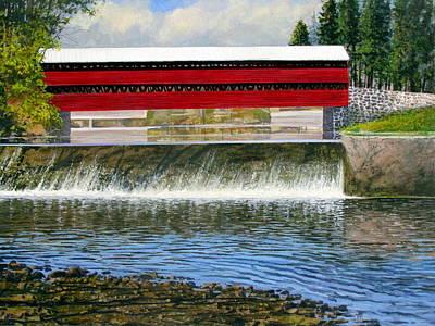 Painting - Gettysburg Covered Bridge by Milan Melicharek