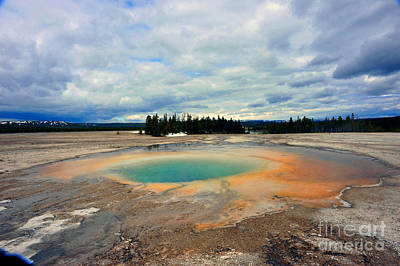 Photograph - Geyser At Yellowstone by Dan Friend