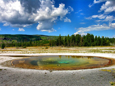 Geyser Pool I Art Print by Steven Ainsworth
