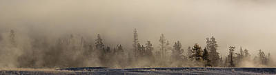 Yellowstone Wall Art - Photograph - Geysers And Pines At Yellowstone by Twenty Two North Photography