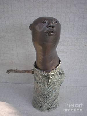 Sculpture - Ghana Adansi Praso Chief by Rhonda Bristol