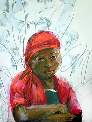 Painting - Ghana Girl by Rhonda Bristol
