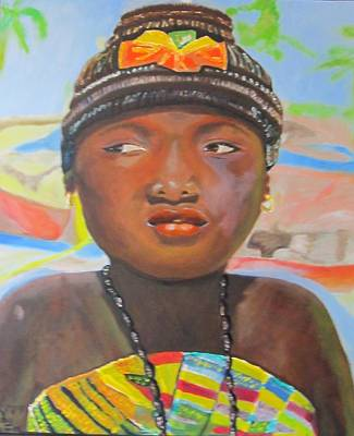Painting - Ghanian Girl by Jennylynd James