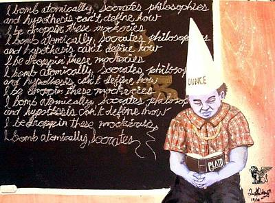Dunce Cap Painting - Ghetto Scholars by Quentin Vercetty
