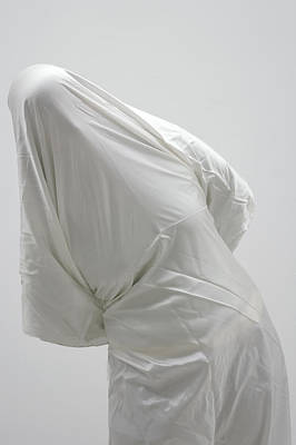 Photograph - Ghost - Person Covered With White Cloth by Matthias Hauser