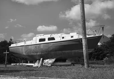 Abandoned Digital Art - Ghost Crab Boat by Betsy Knapp