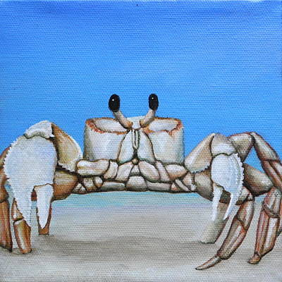 Painting - Ghost Crab by Cindy D Chinn
