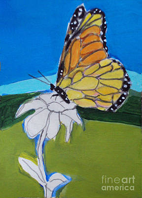 Painting - Ghost Flower And Butterfly by Diane Ursin