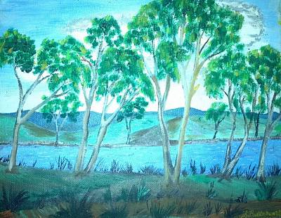 Gum-tree Mixed Media - Ghost Gums by Julie Butterworth