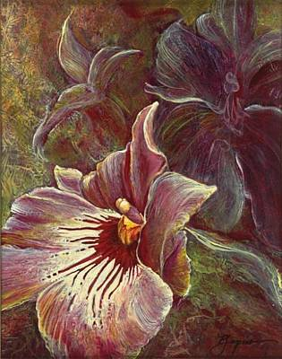 Number 24 Painting - Ghost Orchid by Patricia Laspino