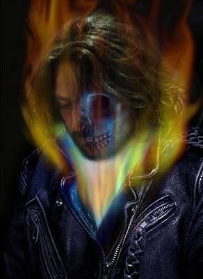 Ghost Riders Digital Art - Ghost Rider by Alessandro Della Pietra