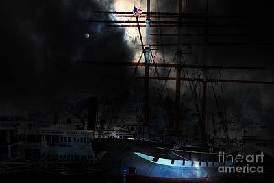Ghost Ship Of The San Francisco Bay . 7d14032 Print by Wingsdomain Art and Photography