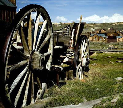 Wagon Wheels Photograph - Ghost Town by Aron Kearney