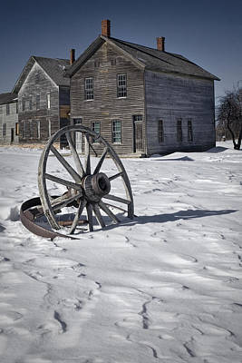 Wagon Wheels Photograph - Ghost Town At Fayette by Randall Nyhof