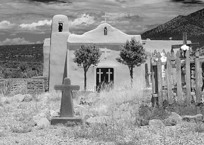 Squint Photograph - Ghost Town Church by Sonja Quintero