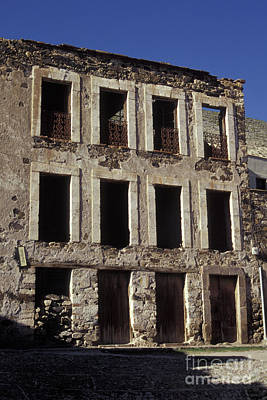 Photograph - Ghostly Facade Real De Catorce Mexico by John  Mitchell