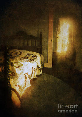 Bed Quilts Photograph - Ghostly Figure In Hallway by Jill Battaglia