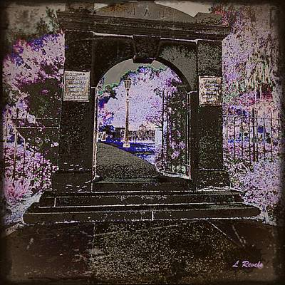Ghostly Garden Art Print by Leslie Revels Andrews