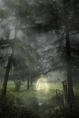 Ghostly Gentleman Print by Amanda Elwell