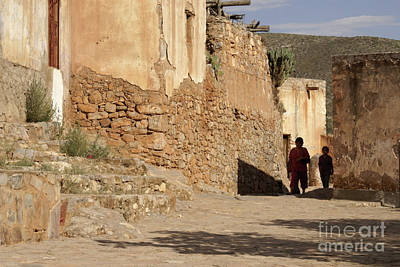 Photograph - Ghostly Pair Cerro San Pedro Mexico by John  Mitchell