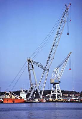 Giant Crane Art Print by Rod Jones