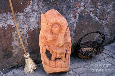 Photograph - Giant Laughing Devil Mask Mexico by John  Mitchell