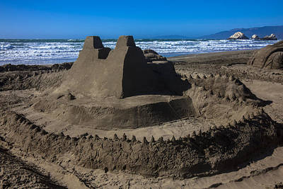 Sand Castles Photograph - Giant Sand Castle by Garry Gay