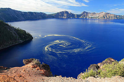 Photograph - Giant Swirl Of Pollen At Crater Lake National Park  by Pierre Leclerc Photography