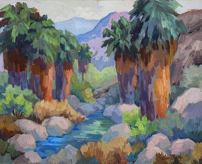 Canyons Painting - Giants At Indian Canyon by Diane McClary