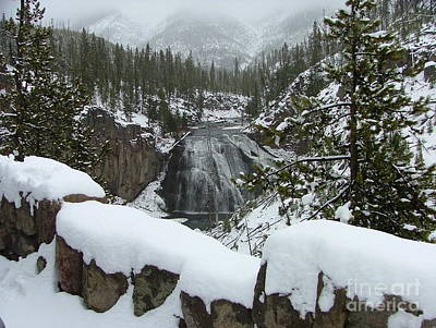 Photograph - Gibbon Falls Bedecked In Winter by Katie LaSalle-Lowery