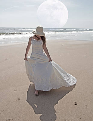 Gibbous Moon Gown Art Print by Betsy Knapp