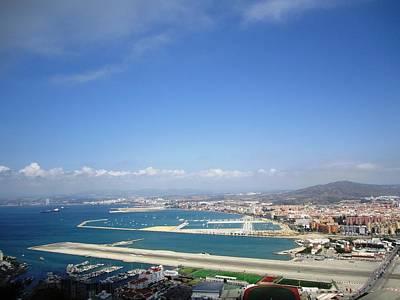 Photograph - Gibraltar Bay Airport Runway View II Uk Territory by John Shiron