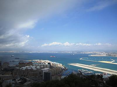 Photograph - Gibraltar Bay Airport Runway View IIi Uk Territory by John Shiron