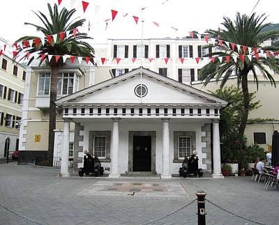 Photograph - Gibraltar Embassy House Cannon Ball Uk by John Shiron