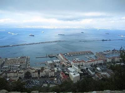 Photograph - Gibraltar Great Harbor View Uk  by John Shiron