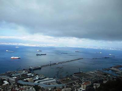 Photograph - Gibraltar Harbor View Tanker Uk by John Shiron