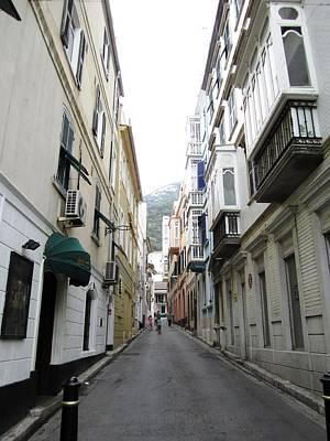 Photograph - Gibraltar Old Side Street Mountain View Uk by John Shiron