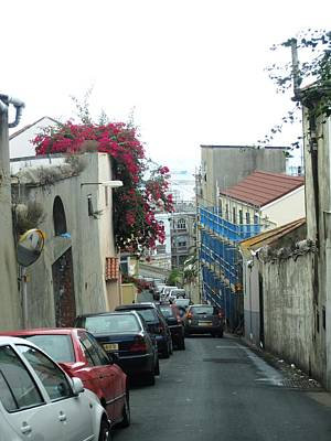 Photograph - Gibraltar Old Side Street Parked Cars by John Shiron