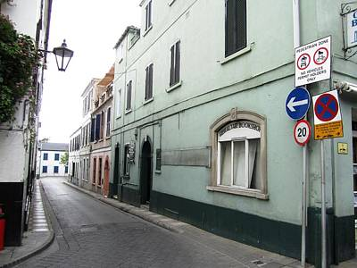 Photograph - Gibraltar Pedestrian Zone Street by John Shiron