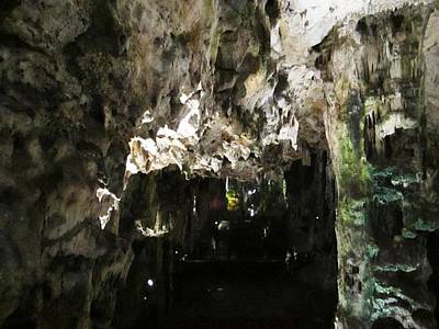 Photograph - Gibraltar Rock St Michaels Cave Stalactites Iv Uk by John Shiron